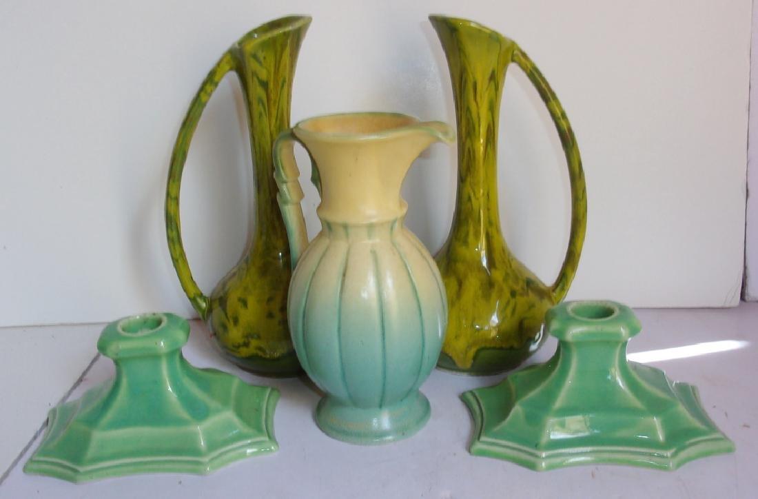 5 vintage mid-century pottery lot