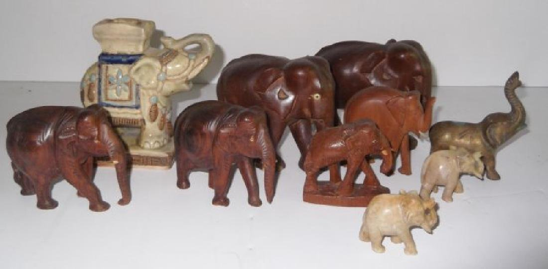 Collection of 10 elephant figures
