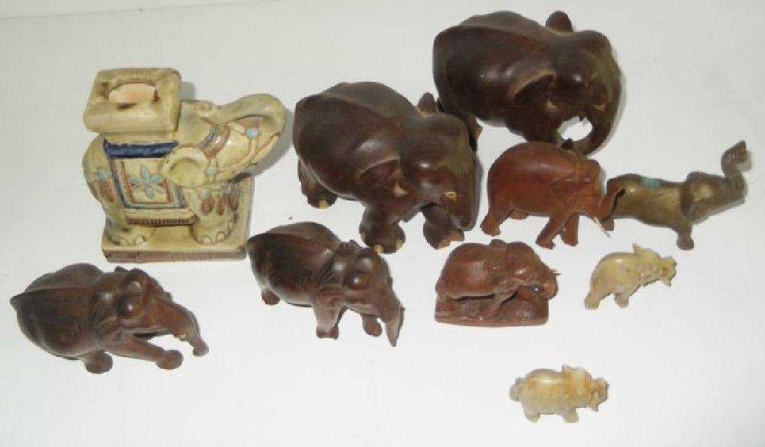 Collection of 10 elephant figures - 5