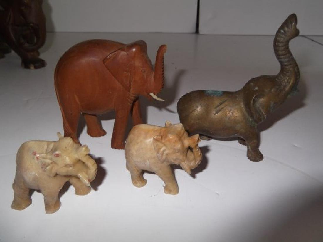 Collection of 10 elephant figures - 6