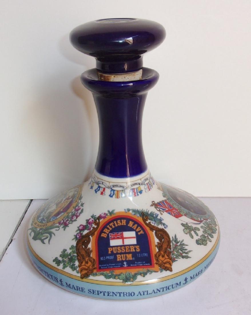 British Navy pusser's rum bottle