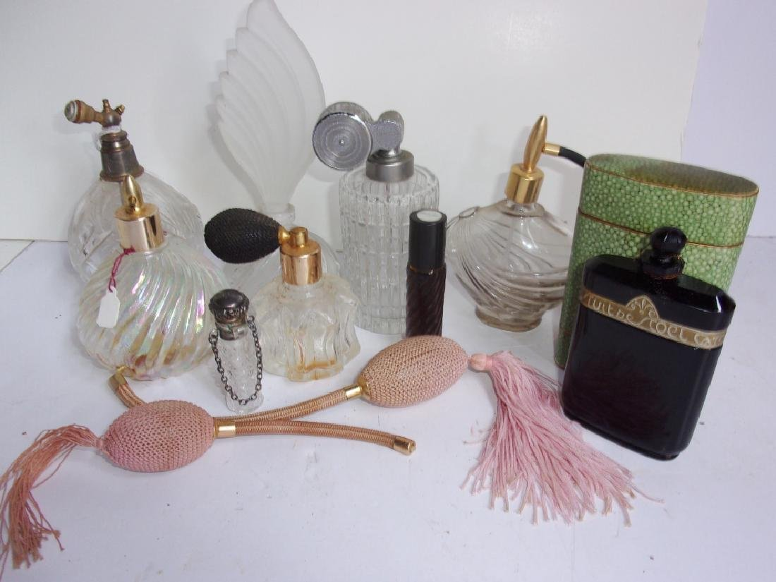 Collection of 8 vintage perfume bottles