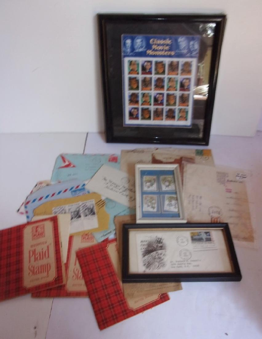 Collection of assorted used and unused stamps