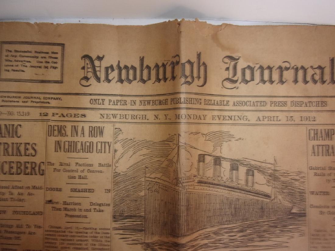 1912 Newburgh New York Journal newspaper - 2