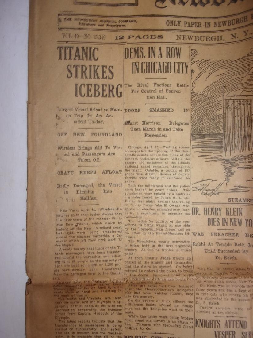 1912 Newburgh New York Journal newspaper - 5