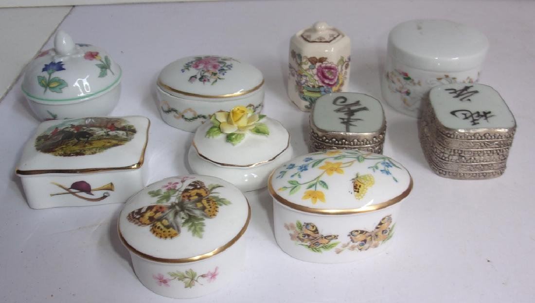 Collection of 10 miniature Trinket boxes