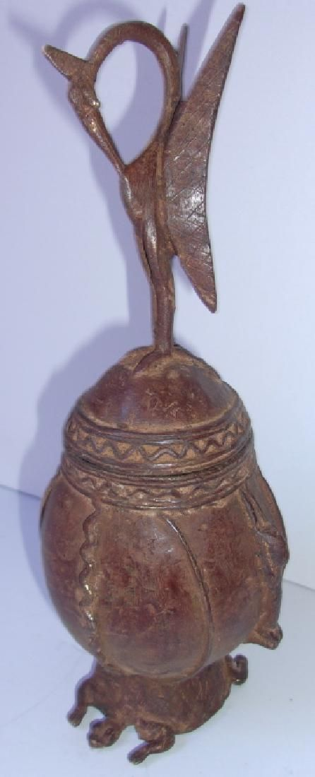 Antique Republic of Congo Dogon bronze statue