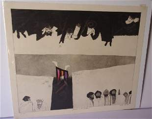 lithograph signed Lieber Joseph and his brethren