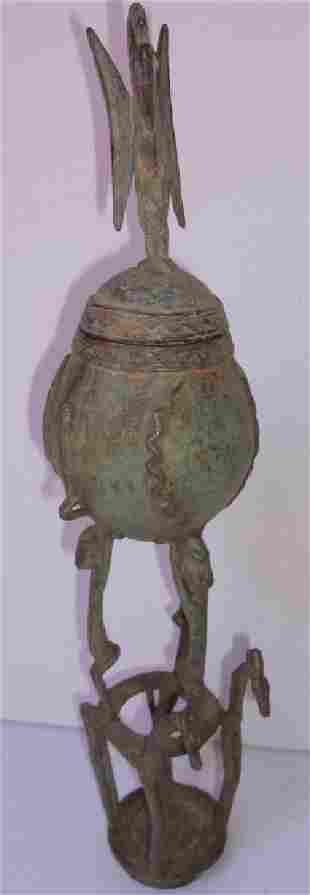 Dogon bronze statue