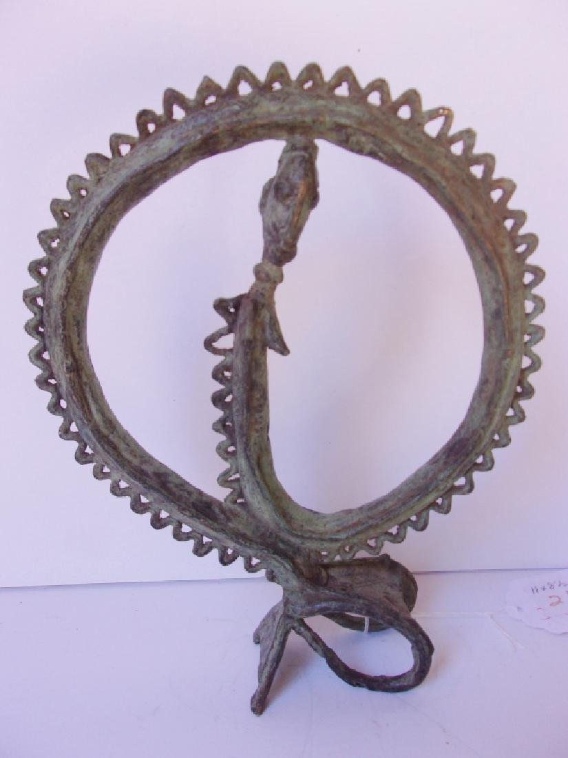 Dogon-Kuba Circle of life bronze statue