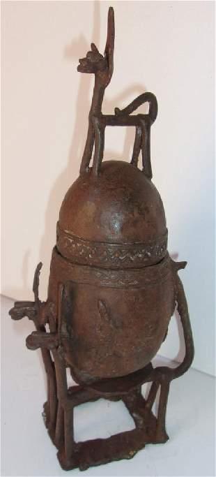 Antique Dogon bronze statue