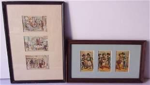 6 framed antique trade cards framed