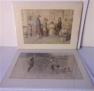 2 lithographs by Arthur Burdett Frost