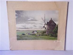 Vintage French tourist advertising photograph