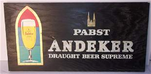 Pabst beer wooden advertising signs
