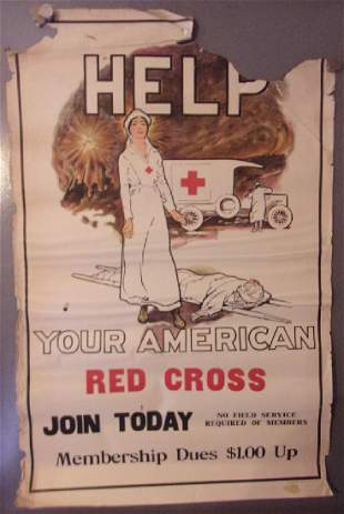 WWI Help your American red cross poster