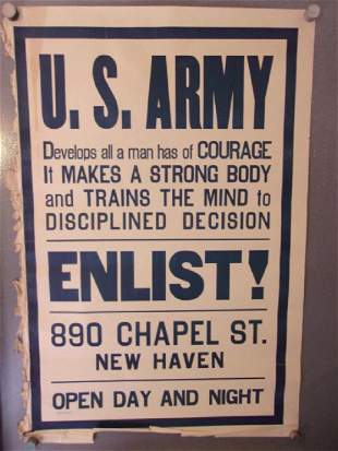 WWI US Army Enlist Poster