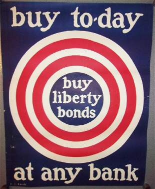WWI Buy today liberty bonds poster