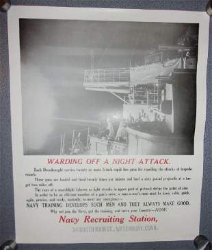 WWI Navy recruiting station poster