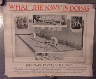 WWI US Navy recruiting poster