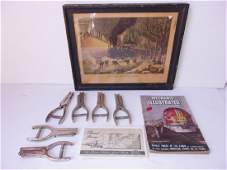 9 piece vintage train related lot