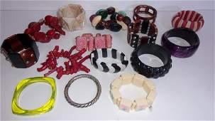 15 vintage costume jewelry bracelets
