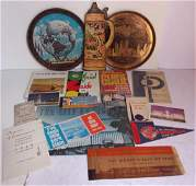 collection of various worlds fair items