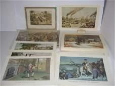 23 Currier  Ives calendar top prints
