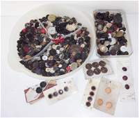 Large collection of vintage/antique buttons