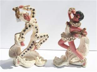 Pair of mid-century modern statues