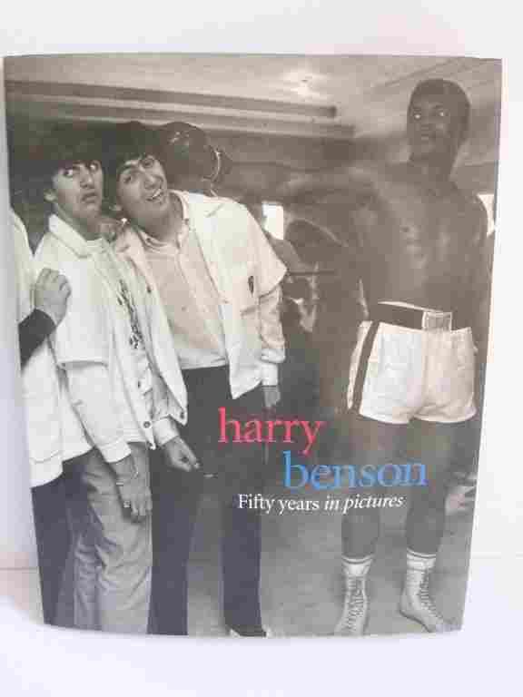 Harry Benson signed book