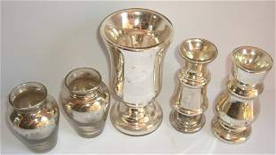 5 piece Murcury glass lot