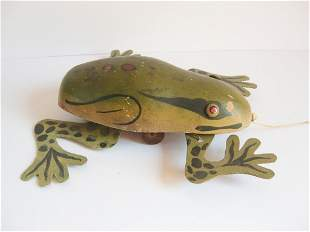 Frog pull toy