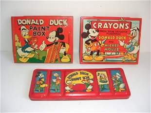Walt Disney's Mickey Mouse & Donald Duck crayons