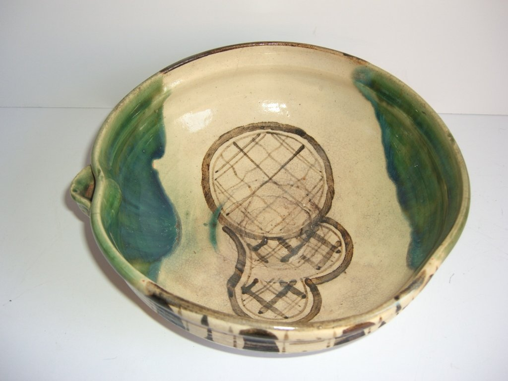 19th c. Japan primitive Oriba bowl