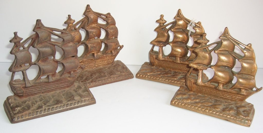 2 pairs of sailboat bookends