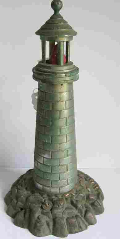 Vintage bronze lighthouse lamp