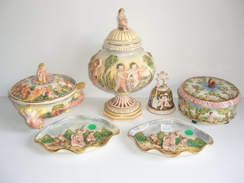 6 pieces Capodimonte lot