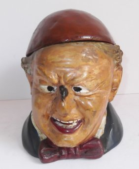19th C. Ceramic German Tobacco Jar