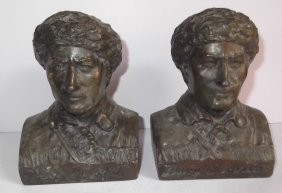 Davy Crockett Bookends