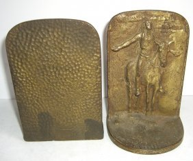 Pair Of Indian On Horse Bookends