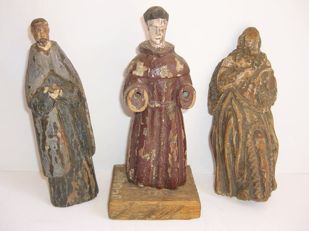 18th/19th c. original wooden carved Santos
