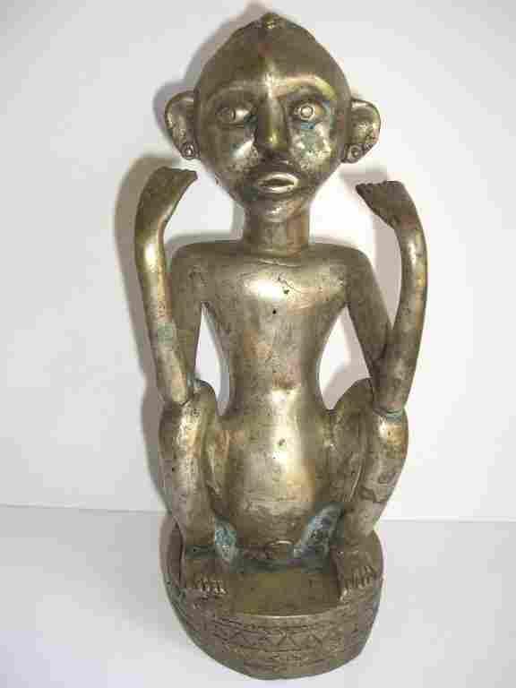 Silver over  copper Timor statue