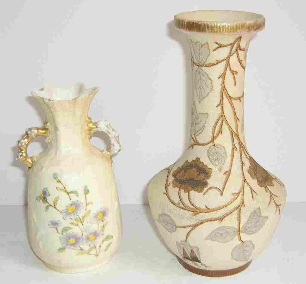 2 Rudolstadt vases