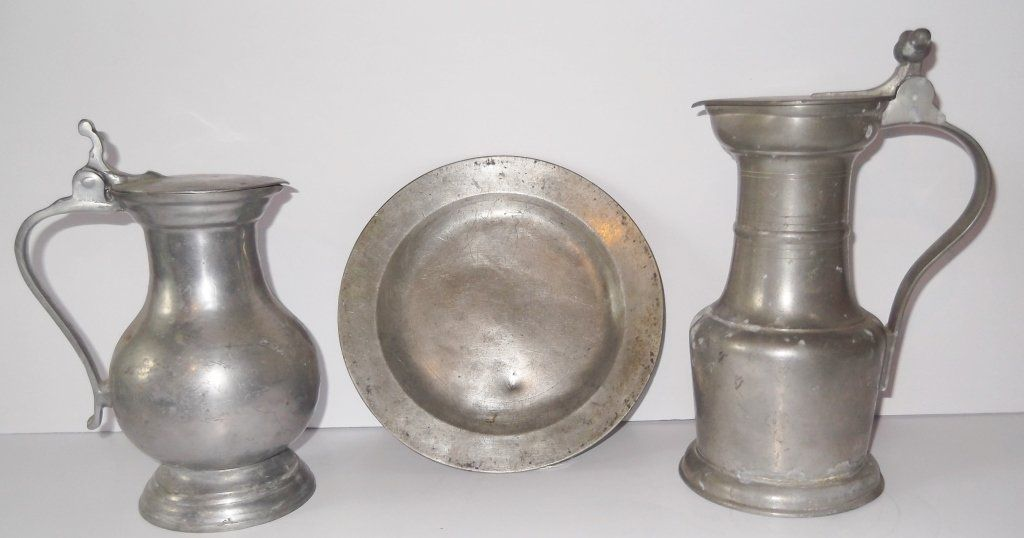 3 piece pewter lot