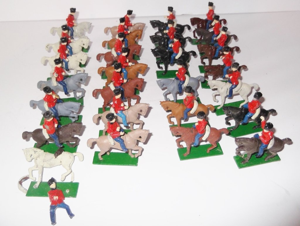 27 horse & rider lead soldiers