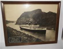 Travel agency steam ship lithograph