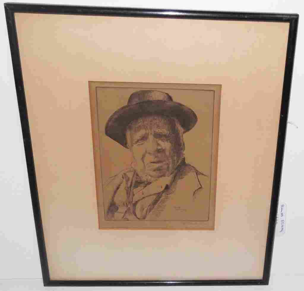 Edith Nankivell etching