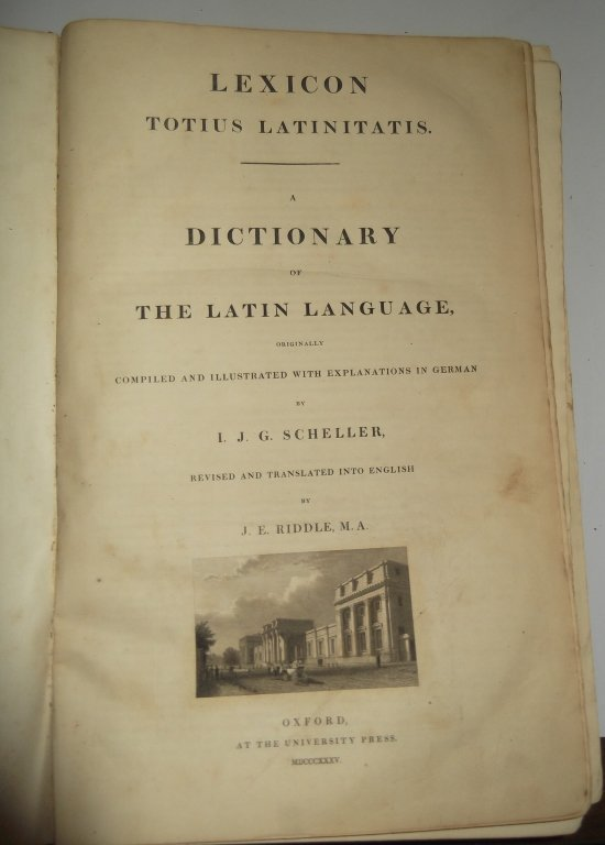 1835 The Latin language dictionary