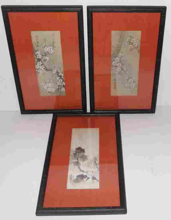 3 Japanese watercolors
